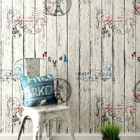 自粘墙纸防水木纹墙贴条纹大学生宿舍自贴壁纸
