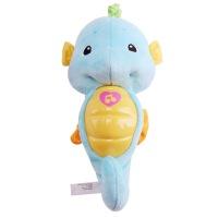 海马新生婴幼儿胎教子音乐哄睡毛绒手偶益智玩具宝宝婴儿安抚小海马玩具