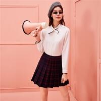 衬衫女长袖秋冬新款洋气外套女装韩版宽松休闲衬衣中长款上衣