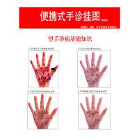 便携式手诊挂图本书介绍了望手诊病方法包括手部反射区手部九星宫区域手部特定穴位分区等所反射的疾病 辽宁科学技术出版社 97