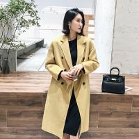 赫本风2018秋冬双面羊绒大衣女中长款流行高端呢大衣羊毛外套