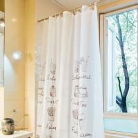 宜家浴间浴帘套装免打孔隔断帘子卫生间窗帘挂帘