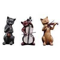 汤姆乐队旺财音乐猫摆件创意树脂家居饰品客厅招财摆设结婚礼品
