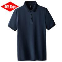 Lee Cooper2020夏季新款纯色男士polo衫翻领短袖绅士商务简约百搭男式t恤