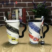 汉馨堂 马克杯 创意个性陶瓷喝水杯子咖啡杯带盖勺大容量办公男女英雄联盟马克杯