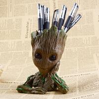 银河护卫队漫威周边复仇者联盟3花盆树人格鲁特手办模型创意笔筒