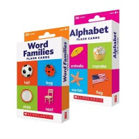 Word Families/Alphabet/Colors&Shapes 3盒 基础单词 英文原版 Scholastic Flash Cards绿山墙