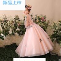2018时尚花仙子长款女童礼服钢琴演出公主蓬蓬裙儿童连衣裙子