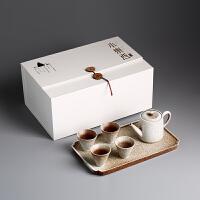 旅行茶具套装 日式黑陶整套陶瓷茶具茶盘 礼盒功夫茶具套组