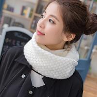 慈姑 新款韩版毛线围巾套头围脖女冬天脖套韩国秋冬季加厚