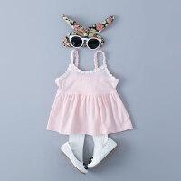 童装新款女宝宝夏装岁婴儿吊带衫糖果色上衣夏季背心打底
