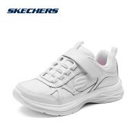 Skehers斯凯奇女童鞋高回弹鞋垫白色运动鞋魔术贴小白鞋