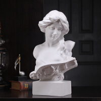 欧式石膏像雕像摆件家居饰品琴女样板房软装服装店 陈列道具摆设