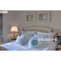 现代简约台灯 卧室床头灯装饰台灯米黄遥控调光LED