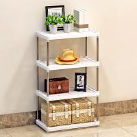 索尔诺置物架 厨房层架塑料落地收纳储物架 浴室客厅整理架子四层Z614--