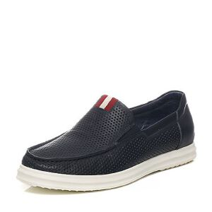 Teenmix/天美意夏季专柜同款牛皮/织物男休闲鞋1WS0TBM6