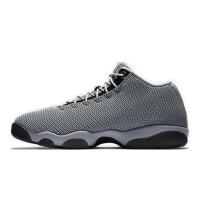 美国直邮 Air Jordan Horizon Low GS AJ13灰黑篮球鞋 男士防滑编织 海外购