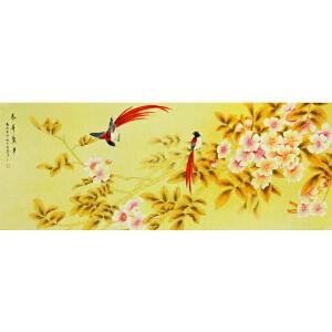 王茹《春花惊梦》著名工笔画家 有作者本人授权