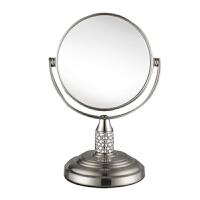 双面化妆镜 水晶迷你镜子便携梳妆镜台式镜旋转镜子