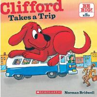 英文原版Clifford Takes A Trip (8X8)大红狗去旅行