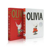【全店300减100】英文原版绘本凯迪克银奖Olivia (Classic Board Books) Helps wit
