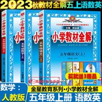 小学教材全解五年级上册语文+数学+英语全3册人教版RJ2019秋部编版