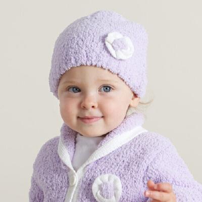 davebella戴维贝拉女宝宝秋冬保暖花朵帽 新生婴儿套头帽戴维贝拉 每周二上新 0-6岁品质童装