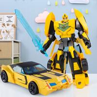变形玩具大黄蜂汽车机器人模型合金手办儿童男孩