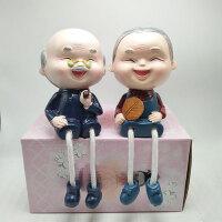树脂摆件吊脚娃娃新房婚房夫妻装饰品人物创意