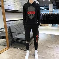 卫衣套装男士连帽衫秋装新款韩版ins潮牌青少年休闲t恤运动两件套