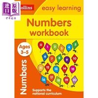 【中商原版】柯林斯易学儿童1:数字练习册 3-5岁 Collins Easy Learning Ks1 教辅教材工具书