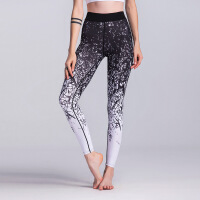 印花运动打底裤弹力紧身瑜伽裤