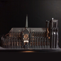 巴黎圣母院3d立体金属拼图成人益智玩具拼装模型送女朋友创意礼物
