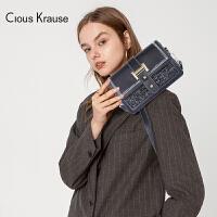 【1件3折,到手价:112.5元】Clous Krause CK包包女包2019新款单肩斜挎包女士单肩链条斜挎包布艺配
