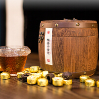 普洱茶小沱茶熟茶迷你小沱茶�~木桶750g