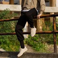 潮叁CONK冬罗纹束脚裤加厚卫裤男女情侣宽松嘻哈国潮小脚运动裤子