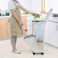 百露日式分类垃圾桶家用厨房客厅卧室垃圾箱双层带盖