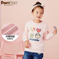【3件3折 到手�r:167】Pawinpaw卡通小熊童�b冬女童卡通�l衣�和�加�q保暖�l衣