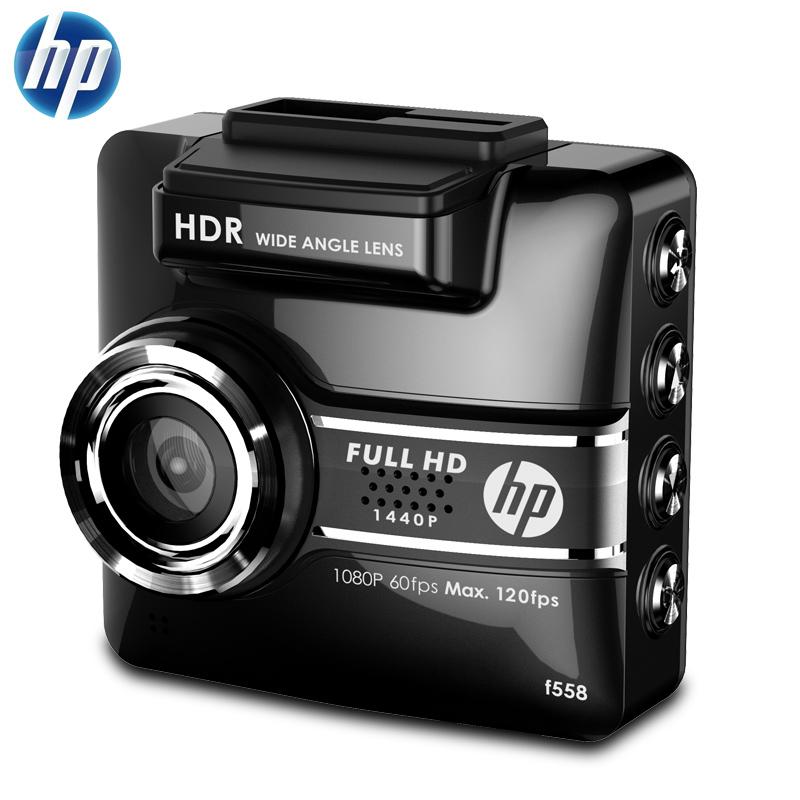 【支持礼品卡】HP惠普F558高清行车记录仪1440P高清夜视迷你智能行车辅助一体机默认赠送16G的C10高速卡