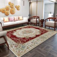 地毯客厅欧美 卧室长方形床前榻榻米地毡 可机洗茶几毯子 北欧风 红色