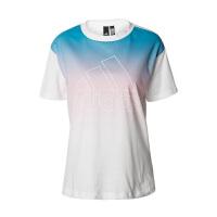 adidas/阿迪达斯女款2019夏季新款运动休闲圆领透气渐变T恤DV0716