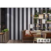 条纹墙纸自粘卧室素色壁纸背景墙学生服装店贴纸