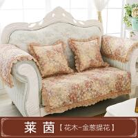 棉麻欧式沙发垫 布艺田园防滑皮沙发坐垫四季组合现代亚麻沙发巾