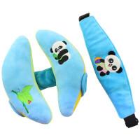 宝宝头+眼罩婴儿安全座椅睡觉靠枕推车枕D7