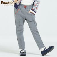 【2件2.5折 到手价:125】Pawinpaw宝英宝卡通小熊童装新款女童松紧腰休闲长裤儿童裤子