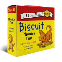 英文原版绘本 小饼干Biscuit Phonics Fun My First I Can Read 一阶段 汪培�E推荐