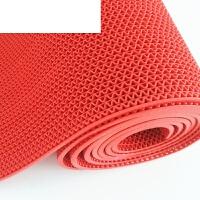 PVC塑料红地毯浴室洗手间厕所厨房防滑垫S型镂空网眼防水门垫地垫