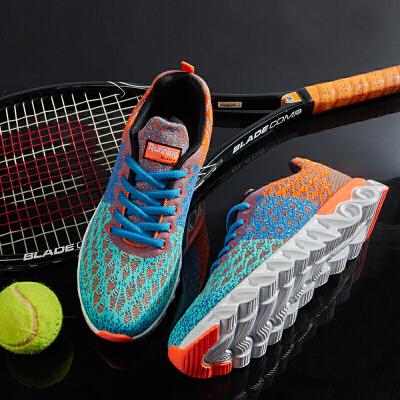 西瑞跑步机鞋男士健身鞋网面休闲运动鞋轻便飞织网布鞋MLD-WK810