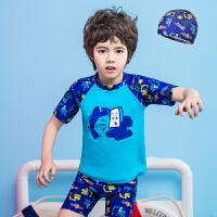儿童泳衣男童泳裤套装男孩分体小中大童防晒速干游泳衣服
