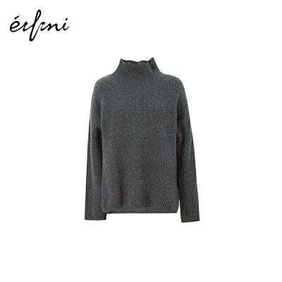 伊芙丽打底毛衣女2019春装新款针织衫全羊绒内搭高领羊绒衫女